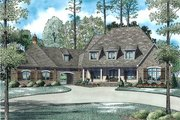 European Style House Plan - 6 Beds 6 Baths 6004 Sq/Ft Plan #17-2507 Exterior - Front Elevation