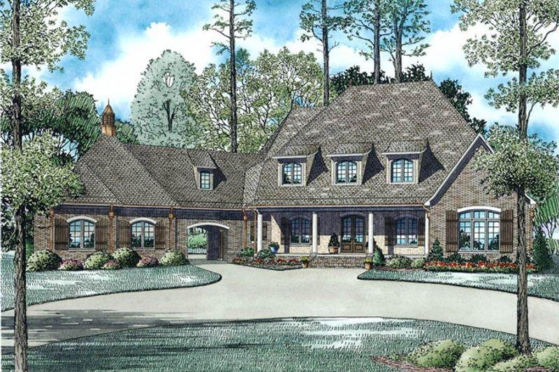 European Style House Plan - 6 Beds 6 Baths 6004 Sq/Ft Plan #17-2507