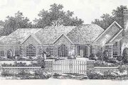 Colonial Style House Plan - 3 Beds 0 Baths 2763 Sq/Ft Plan #310-871 Exterior - Front Elevation
