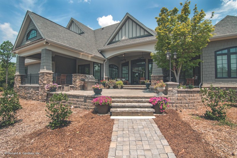 Craftsman Exterior - Rear Elevation Plan #929-1 - Houseplans.com