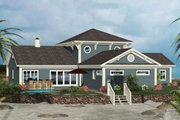Craftsman Style House Plan - 4 Beds 4.5 Baths 2366 Sq/Ft Plan #56-714 Exterior - Rear Elevation