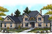 Traditional Style House Plan - 4 Beds 3.5 Baths 3945 Sq/Ft Plan #70-886 Exterior - Front Elevation