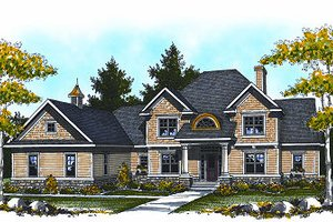 Traditional Exterior - Front Elevation Plan #70-886