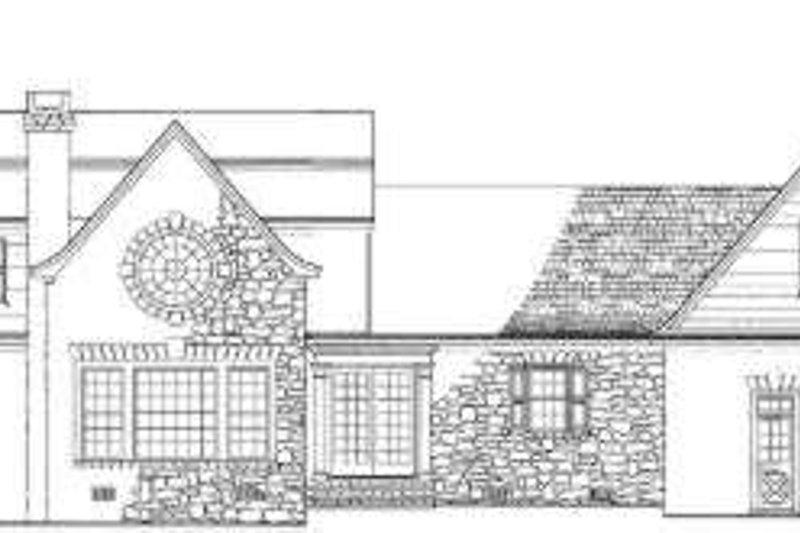 Colonial Exterior - Rear Elevation Plan #137-220 - Houseplans.com