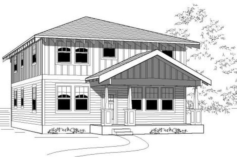 Traditional Style House Plan - 5 Beds 3 Baths 2027 Sq/Ft Plan #423-14 Exterior - Front Elevation