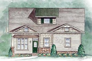 Cottage Exterior - Front Elevation Plan #54-123