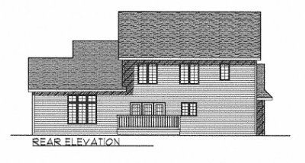 Traditional style house plan 4 beds 3 baths 2553 sq ft for Square feet ap style