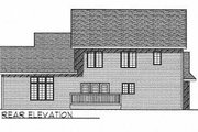 Traditional Style House Plan - 4 Beds 3 Baths 2553 Sq/Ft Plan #70-410 Exterior - Rear Elevation