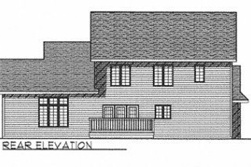 Traditional Exterior - Rear Elevation Plan #70-410 - Houseplans.com