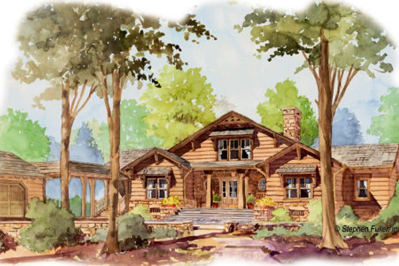 Craftsman Exterior - Front Elevation Plan #429-45 - Houseplans.com