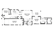Craftsman Style House Plan - 4 Beds 3.5 Baths 3504 Sq/Ft Plan #48-1007 Floor Plan - Main Floor Plan