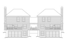 House Plan Design - Traditional Exterior - Rear Elevation Plan #57-568