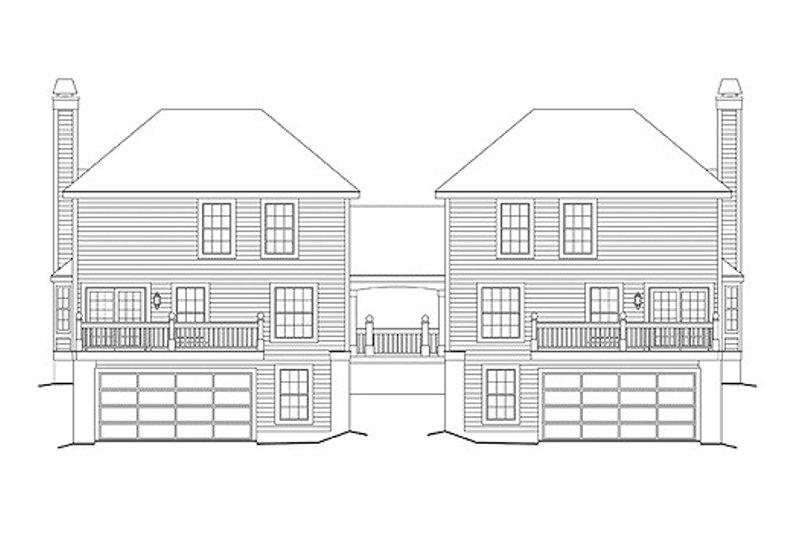 Traditional Exterior - Rear Elevation Plan #57-568 - Houseplans.com