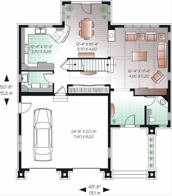 Mediterranean Floor Plan - Main Floor Plan Plan #23-728