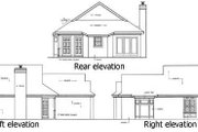 Mediterranean Style House Plan - 2 Beds 1.5 Baths 984 Sq/Ft Plan #45-101 Exterior - Other Elevation