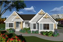 Dream House Plan - Ranch Exterior - Front Elevation Plan #70-1274