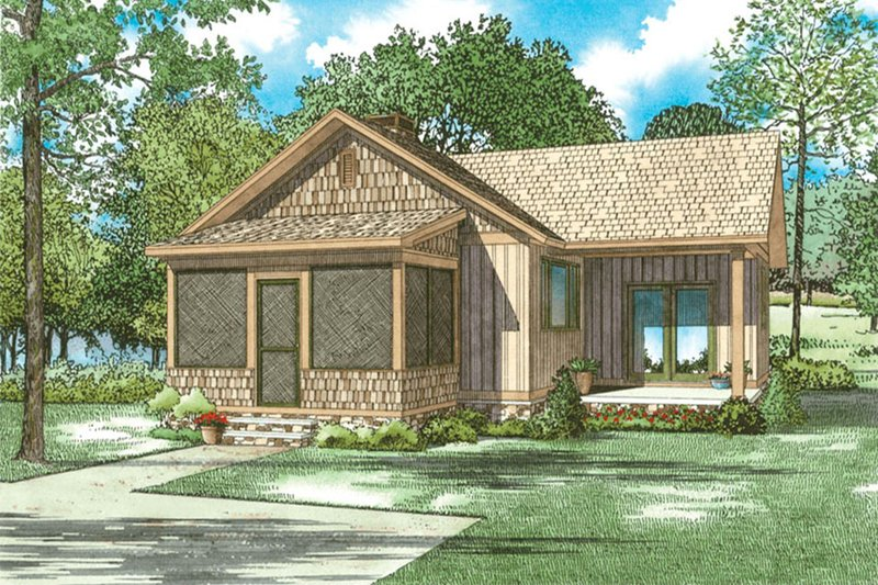 Country Exterior - Front Elevation Plan #17-2607