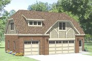 Tudor Style House Plan - 1 Beds 1 Baths 619 Sq/Ft Plan #116-227 Exterior - Front Elevation