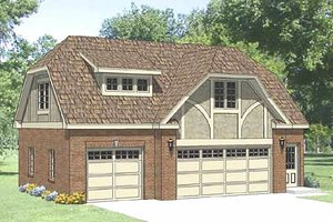 Tudor Exterior - Front Elevation Plan #116-227