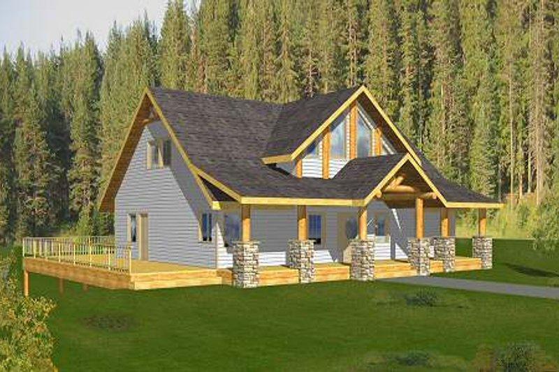 Home Plan - Bungalow Exterior - Front Elevation Plan #117-580