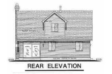 Cottage Exterior - Rear Elevation Plan #18-287