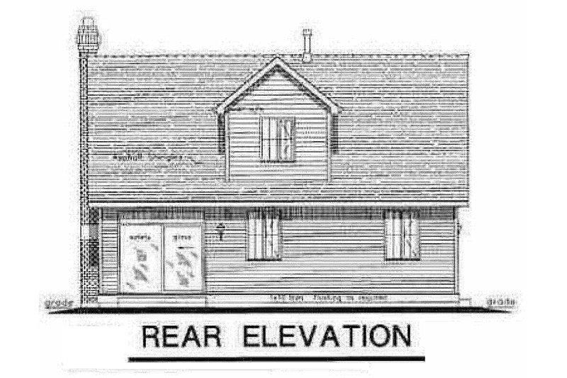 Cottage Exterior - Rear Elevation Plan #18-287 - Houseplans.com
