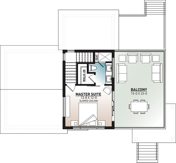 Modern Floor Plan - Upper Floor Plan #23-2719