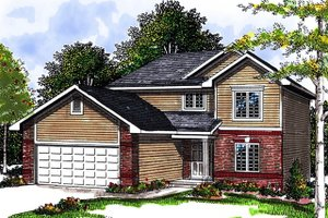 Traditional Exterior - Front Elevation Plan #70-1358