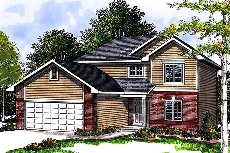 Home Plan - Traditional Exterior - Front Elevation Plan #70-1358