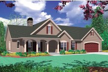 Architectural House Design - Craftsman Exterior - Front Elevation Plan #48-101