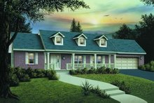 Dream House Plan - Country Exterior - Front Elevation Plan #57-171