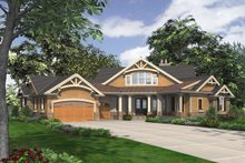 House Plan Design - Craftsman Exterior - Front Elevation Plan #132-229