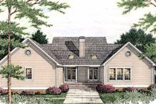 Dream House Plan - Traditional Exterior - Rear Elevation Plan #406-268