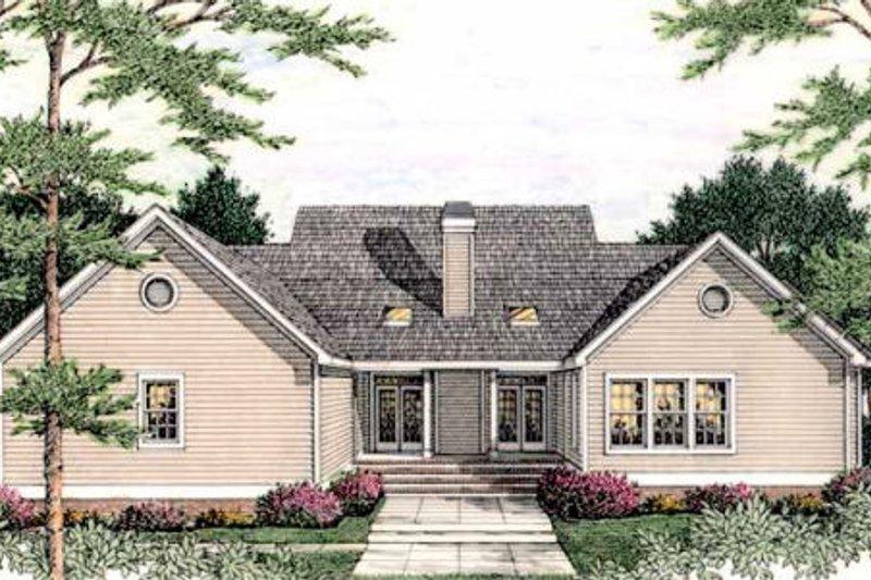 Traditional Exterior - Rear Elevation Plan #406-268 - Houseplans.com