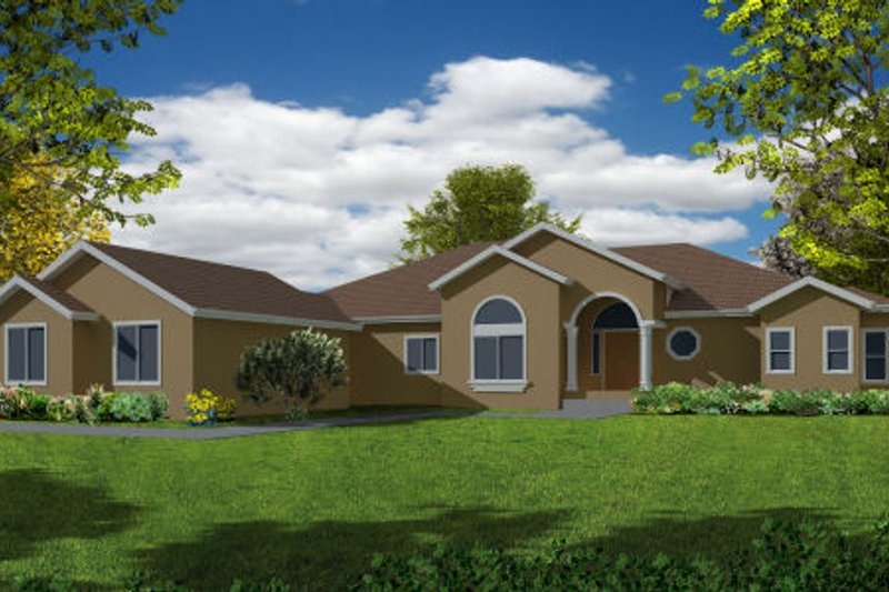Mediterranean Exterior - Front Elevation Plan #437-34 - Houseplans.com