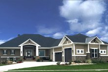 Architectural House Design - Craftsman Exterior - Front Elevation Plan #1069-1