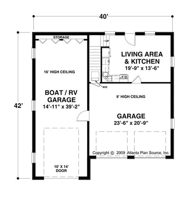 Craftsman Floor Plan - Main Floor Plan Plan #56-610