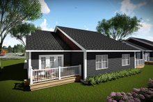 Ranch Exterior - Rear Elevation Plan #70-1473