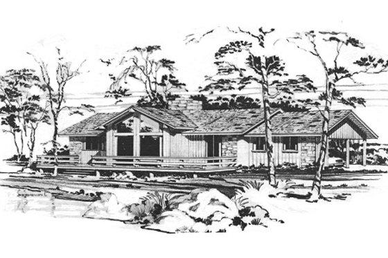 Modern Exterior - Front Elevation Plan #10-130