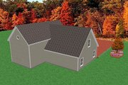 Traditional Style House Plan - 0 Beds 0 Baths 1851 Sq/Ft Plan #75-203 Exterior - Rear Elevation