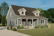 Cottage Style House Plan - 3 Beds 2.5 Baths 1998 Sq/Ft Plan #1064-22 Exterior - Front Elevation