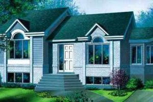 Modern Exterior - Front Elevation Plan #25-325