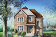 European Style House Plan - 3 Beds 1 Baths 1536 Sq/Ft Plan #25-4702 Exterior - Front Elevation