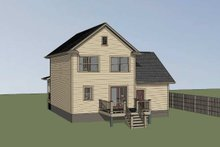 Country Exterior - Rear Elevation Plan #79-271