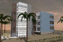 Contemporary Exterior - Rear Elevation Plan #535-22