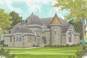 European Exterior - Front Elevation Plan #413-120