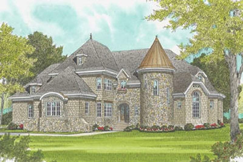 Architectural House Design - European Exterior - Front Elevation Plan #413-120