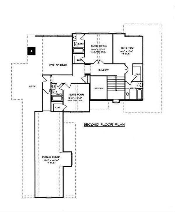 European Floor Plan - Upper Floor Plan Plan #413-143