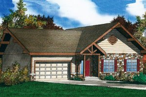 House Design - Traditional Exterior - Front Elevation Plan #405-206