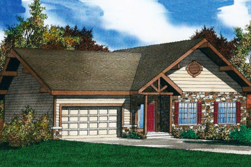 Traditional Exterior - Front Elevation Plan #405-206 - Houseplans.com